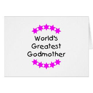 La madrina más grande del mundo (estrellas del tarjeta de felicitación