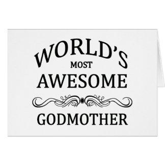 La madrina más impresionante del mundo tarjeta de felicitación