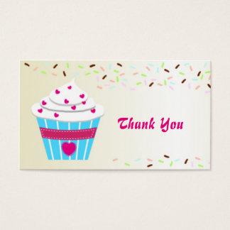 La magdalena de encargo le agradece tarjeta de visita