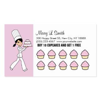 La magdalena del cocinero recompensa la tarjeta de plantillas de tarjeta de negocio