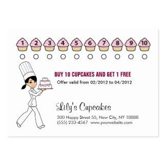 La magdalena del cocinero recompensa la tarjeta re tarjetas de visita grandes