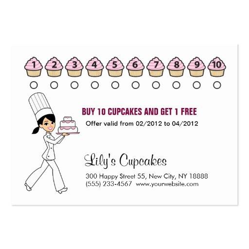 La magdalena del cocinero recompensa la tarjeta re tarjeta personal