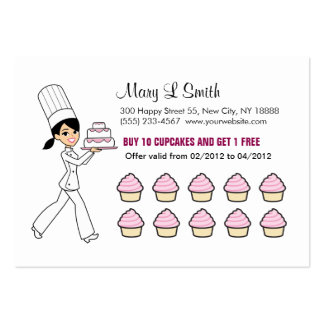 La magdalena del cocinero recompensa la tarjeta re plantillas de tarjetas personales