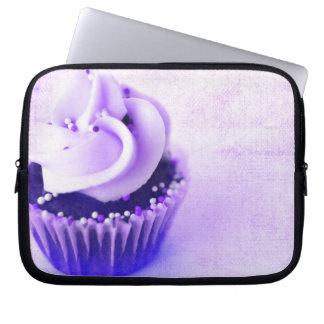 La magdalena púrpura del vintage asperja funda para ordenador