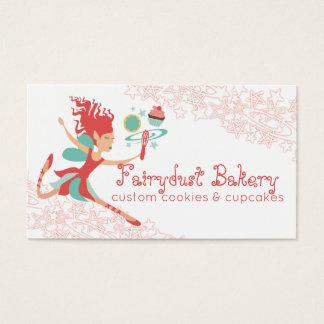 La magia de hadas coralina bate la panadería de la tarjeta de negocios