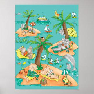 La magia de la isla embroma el poster