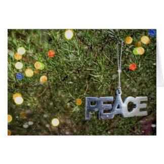 La magia de la tarjeta de Navidad de la paz