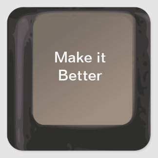 La magia le hace que un mejor botón consigue pegatina cuadrada