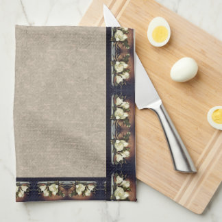 La magnolia de Heade florece las toallas de cocina