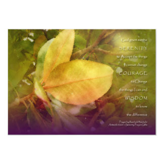 La magnolia del rezo de la serenidad sale de la invitación 12,7 x 17,8 cm