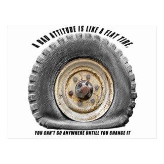 La mala actitud tiene gusto del neumático postal