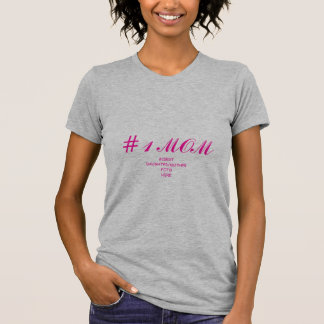 la mamá #1/añade mother_daughter//el foto del hijo camiseta