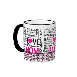La MAMÁ es AMOR, el día de madre, el cumpleaños de Taza A Dos Colores