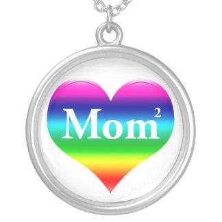 La mamá gay ajustó LGBT Collar Plateado