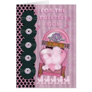 la mamá más dulce, tarjeta del el día de San Valen