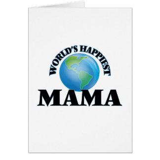 La mamá más feliz del mundo tarjeta de felicitación