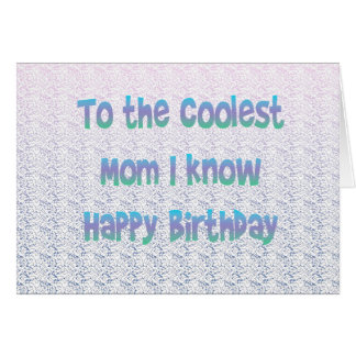 La mamá más fresca tarjeta