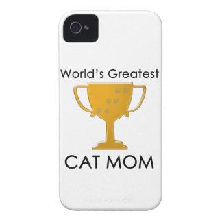 La mamá más grande del gato del mundo Case-Mate iPhone 4 fundas