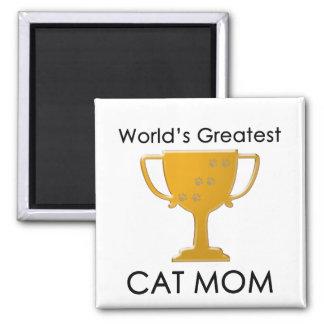 La mamá más grande del gato del mundo imán