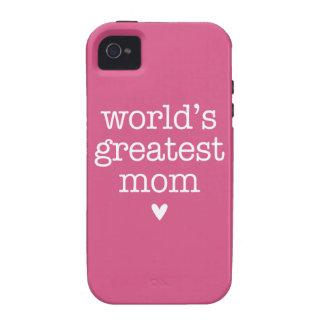 La mamá más grande del mundo con el corazón vibe iPhone 4 carcasa