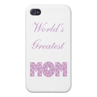 La mamá más grande del mundo - fondo blanco iPhone 4/4S fundas