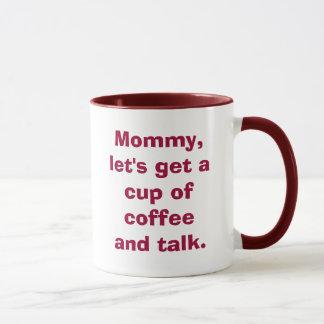 La mamá, nos dejó consigue una taza de café y