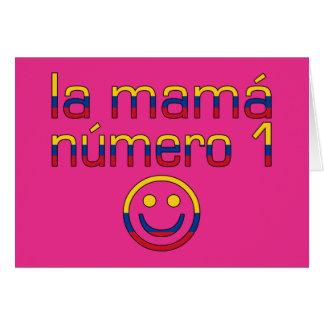 La Mamá Número 1 - mamá del número 1 en colombiano Tarjeta Pequeña