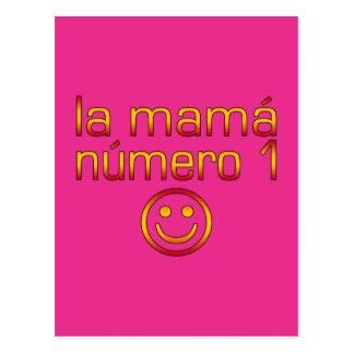 La Mamá Número 1 (mamá del número 1 en español) Postal