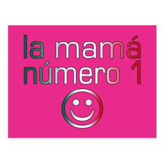 La Mamá Número 1 (mamá del número 1 en mexicano) Postal