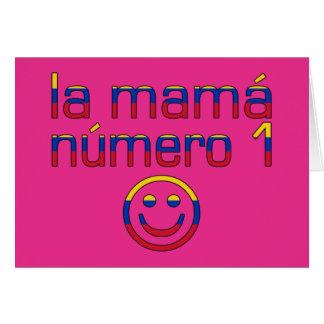 La Mamá Número 1 - mamá del número 1 en venezolano Tarjeta Pequeña