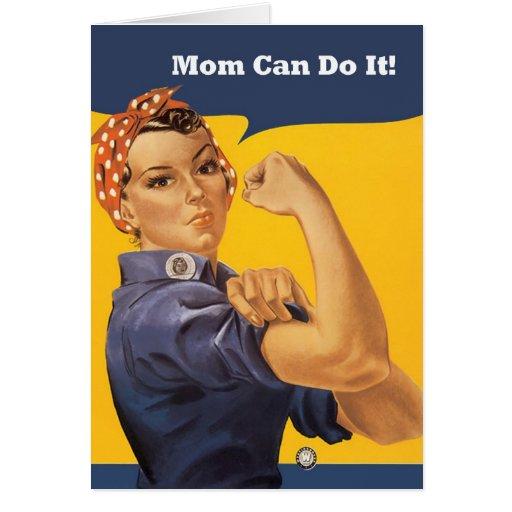 La mamá puede hacerlo la tarjeta del día de madre