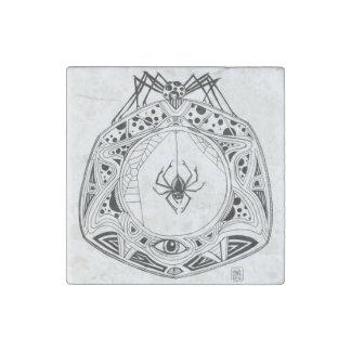 La mandala de la araña en un imán de piedra