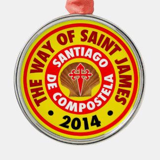 La manera de San Jaime 2014 Adorno Navideño Redondo De Metal
