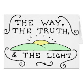 La manera la verdad la luz tarjeta