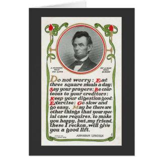 La manera sensata de Lincoln de vivir tarjeta