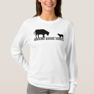 La manga larga básica de las mujeres camiseta