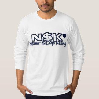 La manga larga de los hombres - blanco camisetas
