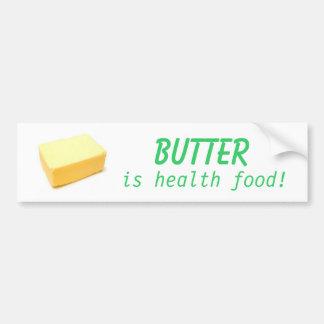 La mantequilla es comida sana pegatina para coche