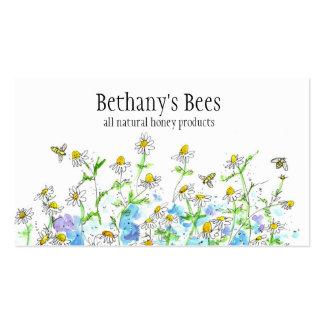 La manzanilla de la tarjeta de visita de la abeja
