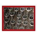 "La máquina de escribir cierra ""te amo """