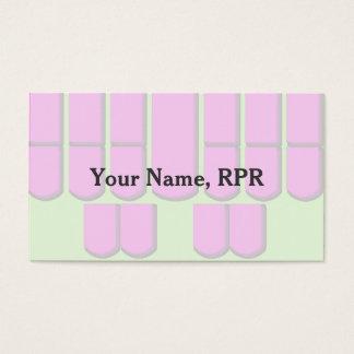 La máquina rosada de la información de la corte tarjeta de visita