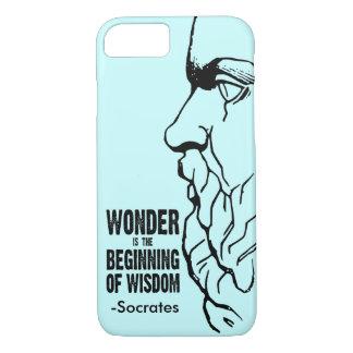 La maravilla es el principio de la sabiduría - funda iPhone 7