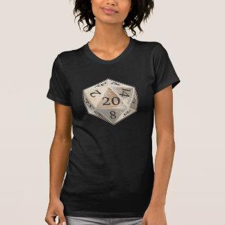 La marfil del D&D d20 y el HUESO negro mueren Camiseta