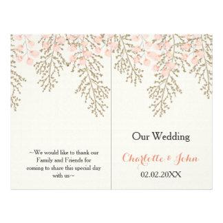 la marfil se ruboriza programa floral del boda del folleto 21,6 x 28 cm
