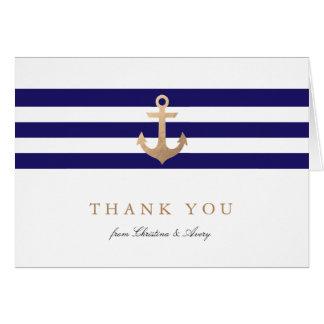 La marina de guerra náutica le agradece las tarjeta pequeña