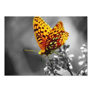 La mariposa amarilla invitación 12,7 x 17,8 cm