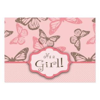 La mariposa besa el recordatorio Notecard Tarjetas De Visita Grandes