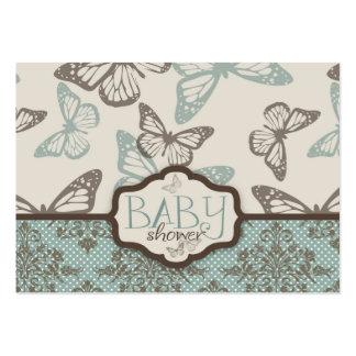 La mariposa besa el recordatorio retro Notecard Tarjetas De Visita Grandes