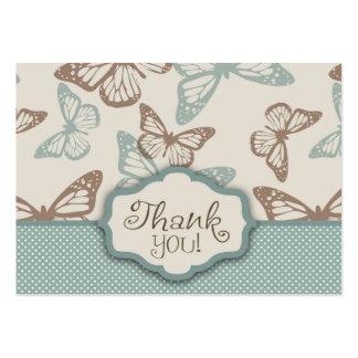 La mariposa besa el trullo de TY Notecard Tarjeta De Negocio