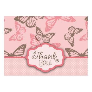 La mariposa besa rosa de TY Notecard Tarjetas De Visita